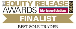 2016 Equity Release Awards Finalist logo which was awarded to Acclaimed Mortgage Consultancy