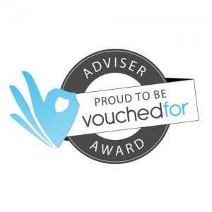 VoucheFor Award logo awarded to Acclaimed Mortgage Consultancy